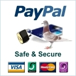 Safe & Secure Payments via PayPal